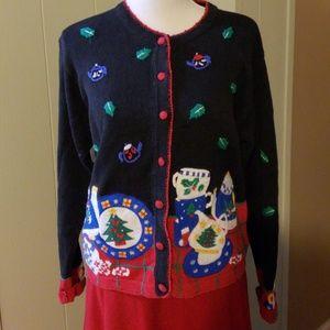 Vintage Christmas Sweater Paul Harris Designs Tea